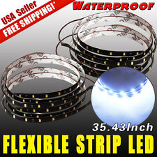 2x DIY Car Motor Flexible LED Strip Light Bar 6000K White High Power Waterproof