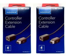 2 Insignia Controller Extension 6ft Cable For Gaming NES SNES Classic Wii PRO $$