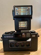 Nimslo 3D 35mm Quadra Lens 30mm Camera - With Flash