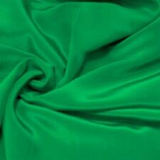 Meters 12mm /12momme Pure Silk Crepe De Chine Emerald Green +Free SQ Button