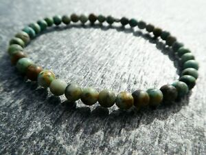 4mm African Turquoise Stretch Bracelet 0671