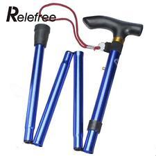 Baston plegable para andar altura regulable aluminio baston de apoyo 6 colores.