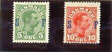 DINAMARCA SELLO DE SERVICIO YT 1917 Nº20-21 NUEVO