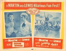 1957 MOVIE LOBBY CARD #4-1955 DEAN MARTIN - JERRY LEWIS - SAILOR BEWARE