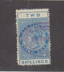 NEW ZEALAND (MK5746) # AR1  VF-USED 2sh 1882  QUEEN VICTORIA / BLUE  CV $20