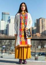 "BNWT *Gudrun Sjoden* stunning Aki embroidered kaftan dress XL 52"""