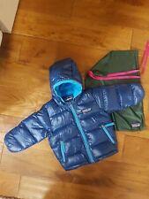Blue Patagonia Snowsuit Baby Infant Hi-Loft Down Sweater Hoody - 3-6 months 6M