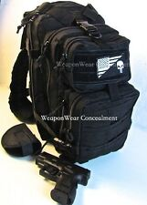 Tactical Backpack Gun Holster Punisher Flag HEAVY DUTY Black Concealment + GIFTS
