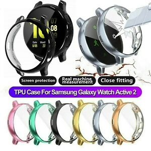 TPU Full Cover Case Screen Protector For Samsung Galaxy Watch Active 2 40/44 mm