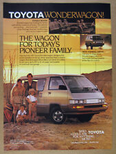 1987 Toyota Wonderwagon Van photo vintage print Ad