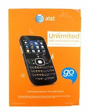 AT&T Z432 PrePaid GoPhone Cell Phone GM Qwerty Keyboard Black See Desc