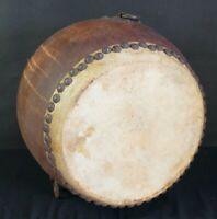 Antique Japan Buddhist drum Taiko hand craft 1880s Japan instrument