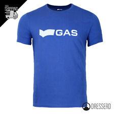 T-Shirt Uomo GAS Round Neck Maglia con logo Maglietta Cotone Slim Fit Girocollo