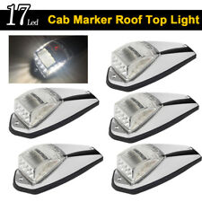 5X Truck Trailer Cab Roof Top Clearance Clear 17Led Marker Light with Reflector