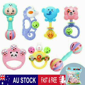 7Pcs Baby Rattle Toys Set Kids Music Sensory Toys Shaker Musical Education Gift