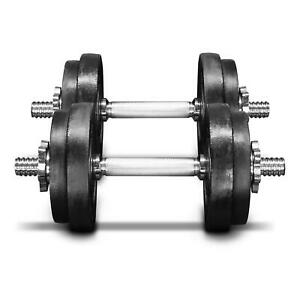 Dumbbell Weight Set Adjustable Cast Iron Dumbbell 60lbs Pair Indoor/Outdoor Use