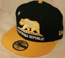 NWT NEW ERA California Republic dark green 9FIFTY fitted size 7 1/8 cap hat