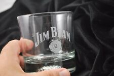 Jim Beam Heavy Based Drink Glass Sports Theme GOLF Tumbler Drinking Cup Barware