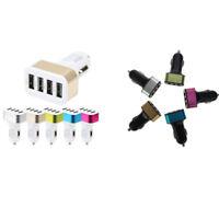 Mini Car Triple USB Adapter Charger Charging Metal Socket 3 & 4 Port For Phone