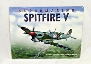"16"" Spitfire V marine military rolls royce MERLIN engine jet airplane STEEL sign"