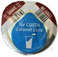 Tassimo Costa Caramel Latte Milk Creamer Pods 8 16 24 32 40 (NO COFFEE DISCS