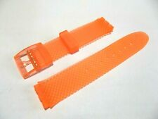 cinturino arancione gomma a piramide x swatch 17mm gent strap band correa montre