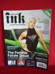 AUSTRALIAN INK AUG 2009 ISSUE 1 PINK ON COVER VGC LEMMY GREAT PICS TATTOOS INK