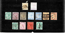 India  Stamps 1873-87, Queen Victoria, different values, used