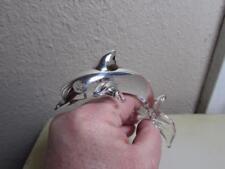 Dolphin, Blown Glass w/.99 silver overlay by Seclan Artesanos of Peru, Dolphin