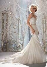 Mori Lee 1958  Ivory Sweetheart Mermaid Wedding Gown Size Medium (6-8)