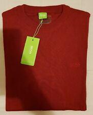 BNWT Mens Size XL HUGO BOSS Red Maroon Burgundy Jumper Sweater Pullover Shirt