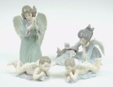 Grandeur Noel PORCELAIN ANGEL 2003 Collector's 4 Pc Christmas Collectible Set