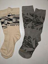 Pendleton Wool Socks Two pairs Beige gray logo b14