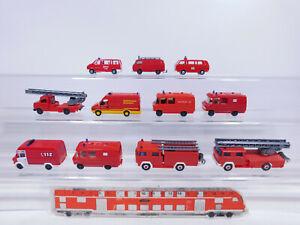 CP257-0,5 #11x wiking H0 / 1:87 Model Fire Brigade / Fw: MB+ VW +Magirus+ Opel +