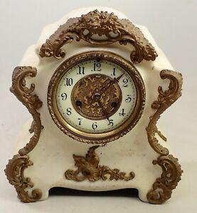ANTIQUE CAST IRON WATERBURY MANTEL SHELF CLOCK PARTS REPAIR