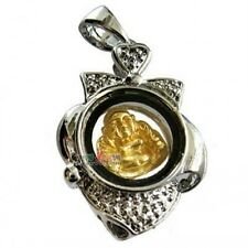 Tibetan Copper Gold-plating Happy BUDDHA Spin Lucky Change Amulet Pendant