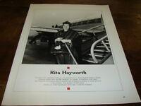 RITA HAYWORTH - MINI POSTER N&B N°3 !!!!!!!!!!!!!!!!!!!