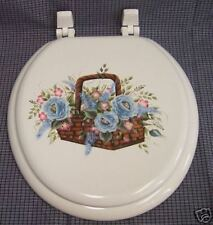 HAND PAINTED TOILET SEAt/BASKET OF FLOWERS/CHOOSE COLOR