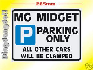 MG Midget Parking Sign Novelty Gift