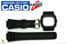 CASIO GW-5000 G-Shock Original Black Rubber BAND & BEZEL Combo