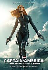 Captain America The Winter Soldier Movie Poster (24x36) Black Widow Scarlett J