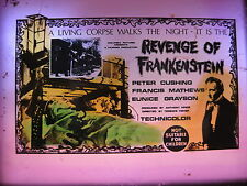 REVENGE OF FRANKENSTEIN Rare cinema movie projector glass slide Hammer horror