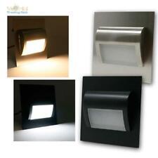 LED Wand-Einbaustrahler Leuchte für UP-Schalter-Dose, Lampe Treppen-Stufen-Licht