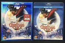 Disney A Christmas Carol Blu-ray DVD 2 Disc Set with slip cover Jim Carrey 2010