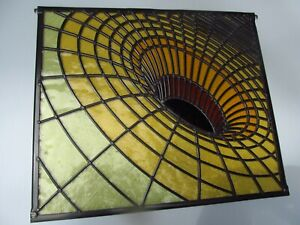 Newly crafted UNIQUE Leaded Stained Glass Window Panel BLACK HOLE 492mm by 423mm