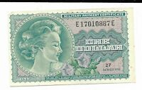 MPC Series 692 Military Payment Certificate $1 CH CU #10887E Rare Note Currency