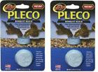 LOT OF TWO ZOO MED PLECO BANQUET REGULAR SIZE BLOCK RELEASE FEEDER FISH FOOD