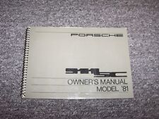 1981 Porsche 911SC Coupe Original Owner Owner's Operator User Guide Manual 3.0L