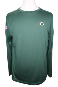 Nike NFL Green Bay Packers On Field Apparel DRI-FIT Long Sleeve Large Shirt