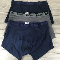 3 x Lee Cooper Mens Boxers Trunks Shorts Underwear Size 2XL Cooton T363-19